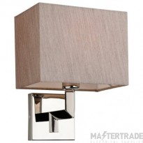 Firstlight 3458OY LEX One Light Wall Light In Polished Stainless Steel With Oyster Shade