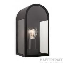 Firstlight 7669BK Eva 1 Light Outdoor Wall Light In Black