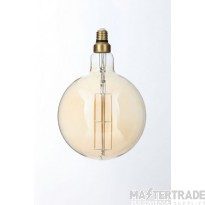 Forum Lighting INL-34028-AMB G180 Amber Warm White Dimmable LED E27 Vintage Filament Lamp 6W 2000K