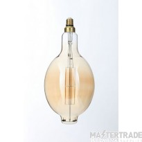 Forum Lighting INL-34029-AMB A165 Amber Warm White Dimmable LED E27 Vintage Filament Lamp 6W 2000K