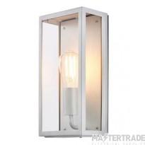 Forum Lighting ZN-20944-SIL Silver Zinc Minerva Outdoor E27 Box Lantern, 60W, IP44