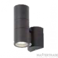 Forum Lighting ZN-34022-BLK Leto Black Up/Down Wall Light with Photocell 2 x 35W GU10
