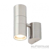 Forum Lighting ZN-34022-SST Leto Stainless Steel Up/Down Wall Light with Photocell 2x 35W GU10