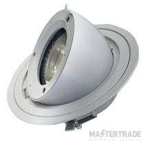 Fosnova King LED111 IP65 Large Recessed Scoop Floodlight Grey Exterior use
