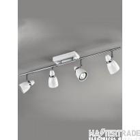 Franklite SPOT8934 Pixon 4 Light Chrome and White Ceiling Bar Spotlight