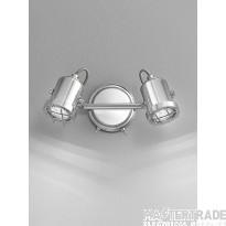 Franklite SPOT8942 Studio Chrome 2 Light LED Wall Spotlight