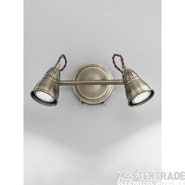 Franklite SPOT8952 Rustica Bronze 2 Light LED Wall Spotlight