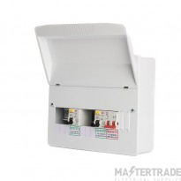 FuseBox F1006D80 6 Way Dual RCD Consumer Unit 2x80A