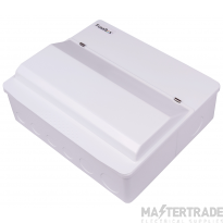 FuseBox F1006DX 6 Way RCD Consumer Unit + SPD 2x80A (5 Usable Ways)
