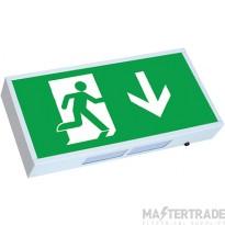 Greenbrook ELEXSLED LED Emergency Exit Box 3hrM Self Test Legend UP