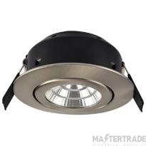 Greenbrook LEDDLTC3000SC Vela Compact IP44 Dimmable Tilit LED Fire Rated Downlight - 7W Satin Chrome 3000K