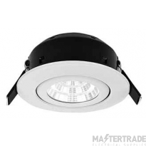 Greenbrook LEDDLTC3000W  Vela Compact IP44 Dimmable Tilit LED Fire Rated Downlight - 7W White 3000K