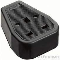 Greenbrook TS1B Trailing Socket 1G Rubber Black
