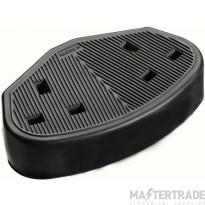 Greenbrook TS2B Trailing Socket 2G Rubber Black