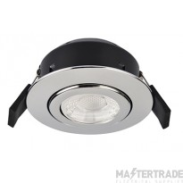 Greenbrook VCPT3000PC Vela Compact PRO 6W Fire Rated Downlight - Tilt - Polished Chrome 3000k