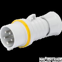 Gewiss GW6001H IP44 Yellow Industrial Plug IP44 2P+E 16A 110V