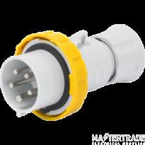 Gewiss GW60023H Yellow Industrial Plug IP67 2P+E 16A 110V
