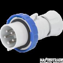 Gewiss GW60028WH Blue Industrial Plug 3P+N+E 16A 230V