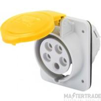 Gewiss GW62201H IP44 Yellow Socket Outlet 2P+E 16A 110V