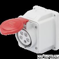 Gewiss GW62408 IP44 Red Wall Socket Outlet 16A 3P+E 415V