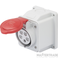 Gewiss GW62409 IP44 Red Wall Socket Outlet 16A 3P+N+E 415V