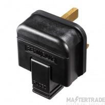 BG HDPT13B Permaplug HDPT13B Black 13A Heavy Duty Plug