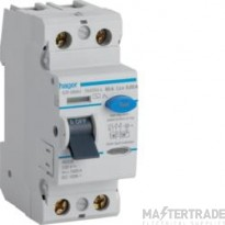 Hager Double Pole Class A type RCD 100A 30mA