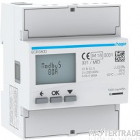 Hager ECR380D kWh Meter 3Ph MODBUS 80A