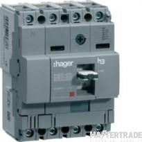 Hager HDA026Z MCCB X160 4P 25A 18kA