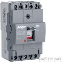 Hager HDA032Z MCCB X160 3P 32A 18kA