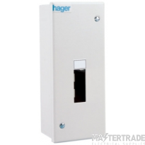 Hager IU2 Enclosure 2Mod without Door