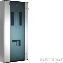 Hager Invicta 3 12 Way TPN Glazed Door Distribution Board 250A JK212BG