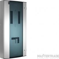 Hager Invicta 3 18 Way TPN Glazed Door Distribution Board 250A JK218BG