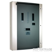 Hager Invicta 3 4 Way 125A Outgoers Glazed Door Panelboard 250A JN204BG