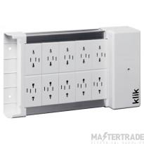 Hager KLDS10 Distribution Box 10 Outlet