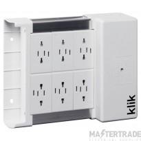 Hager KLDS6 Distribution Box 6 Outlet