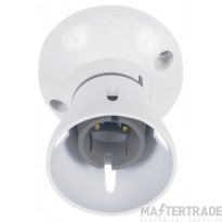 Hager Kleva BC Straight HR Home Office Batten Lampholder White SEL354