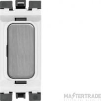 Hager Sollysta Blank Module White Brushed Steel WMGB1BSW