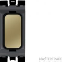 Hager Sollysta Blank Module Black Polished Brass WMGB1PBB