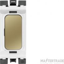 Hager Sollysta Blank Module White Polished Brass WMGB1PBW