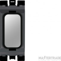 Hager Sollysta Blank Module Black Polished Steel WMGB1PSB