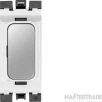 Hager Sollysta Blank Module White Polished Steel WMGB1PSW