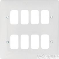 Hager WMGP8 Grid Frontplate 8G Moulded