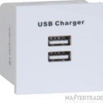 Hager WMMUSBB USB Euromodule Socket Blk