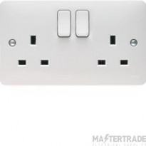 Hager WMSS82 Socket 2G DP Switched 13A