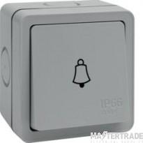 Hager WXPPS12B Bell Push 1G 10AX IP66