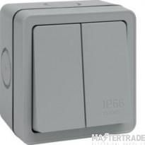 Hager WXPPS22 Switch DP 2G 2 Way 10AX