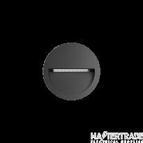 Hoff Lights 240111312 ATHENS 4 ROUND RECE. ANTHRACITE LED 4W 3000K CRI>80 IP54 IK08 100-240V