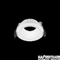 Hoff Lights 841112102 MALTA ROUND ADJUSTABLE WHITE-BLACK RING FOR LED MODULE O GU10 MAX 13W