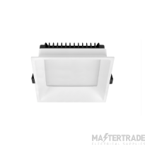 Hoff Lights 841112106 MALTA TRIMLESS ROUND WHITE RING FOR LED MODULE O GU10 MAX 13W
